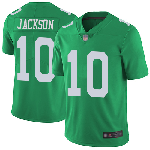 Eagles #10 DeSean Jackson Green Men's Stitched Football Limited Rush Jersey