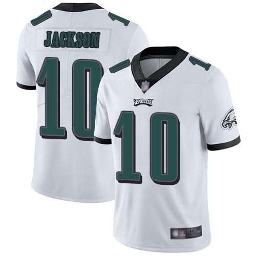 Eagles #10 DeSean Jackson White Men's Stitched Football Vapor Untouchable Limited Jersey