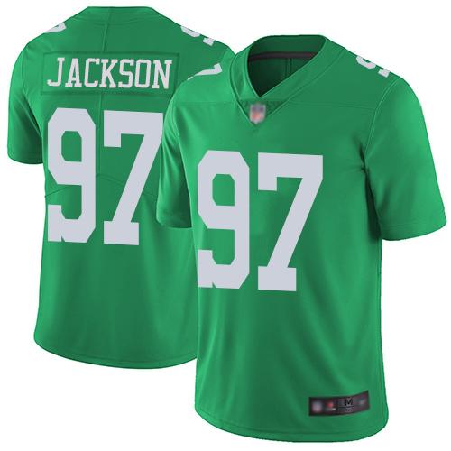 Eagles #97 Malik Jackson Green Youth Stitched Football Limited Rush Jersey