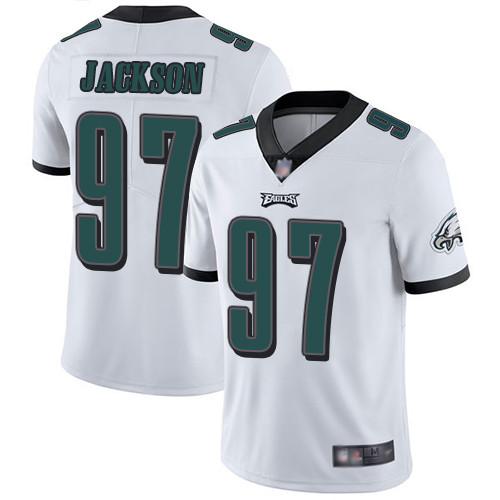 Eagles #97 Malik Jackson White Men's Stitched Football Vapor Untouchable Limited Jersey