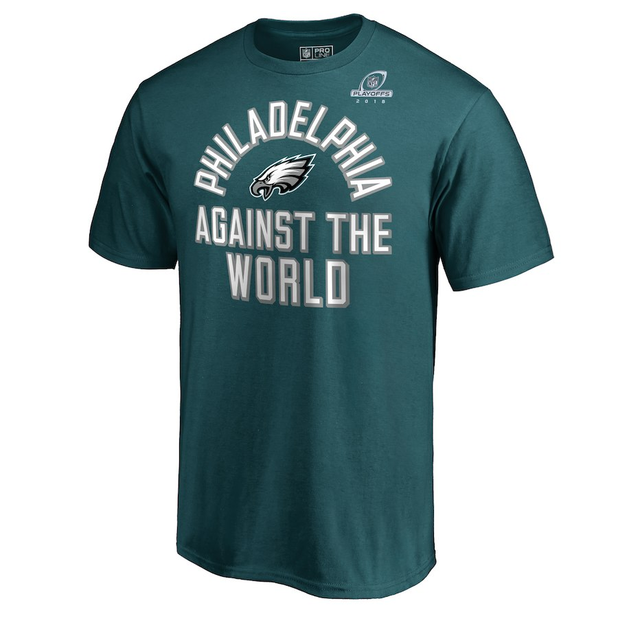 Eagles Green 2018 NFL Playoffs Against The World Men's T-Shirt