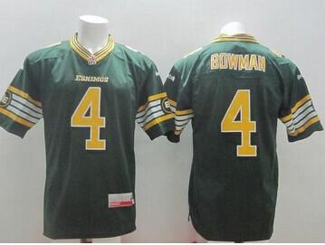 Edmonton Eskimos #4 Adarius Bowman Green Stitched CFL Jersey