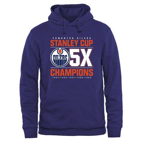 Edmonton Oilers Rinkside Victor Pullover Hoodie Royal