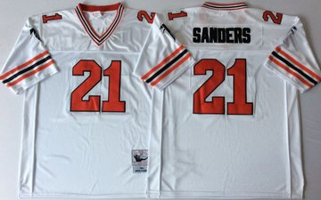 Falcons 21 Deion Sanders White Throwback Jersey