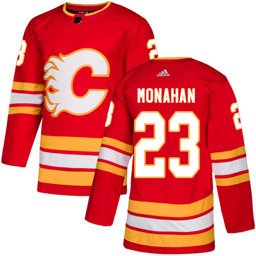 Flames #23 Sean Monahan Red Alternate Authentic Stitched Hockey Jersey