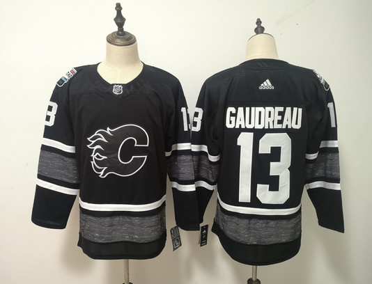 Flames 13 Johnny Gaudreau Black 2019 NHL All-Star Game Adidas Jersey