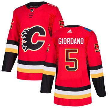 Flames 5 Mark Giordano Red Drift Fashion Adidas Jersey
