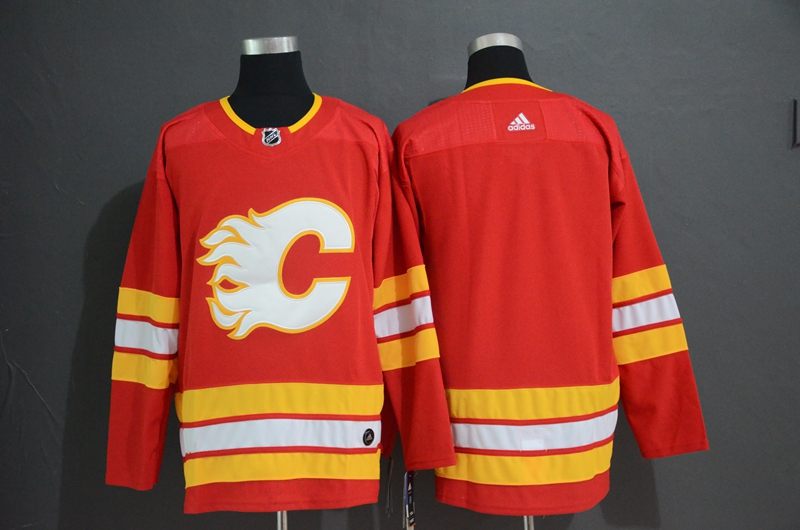 Flames Blank Red Alternate Adidas Jersey