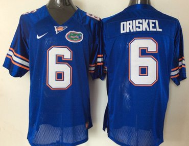 Florida Gators 6 Jeff Driskel Blue College Football Jersey