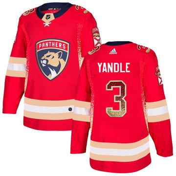 Florida Panthers 3 Keith Yandle Red Drift Fashion Adidas Jersey