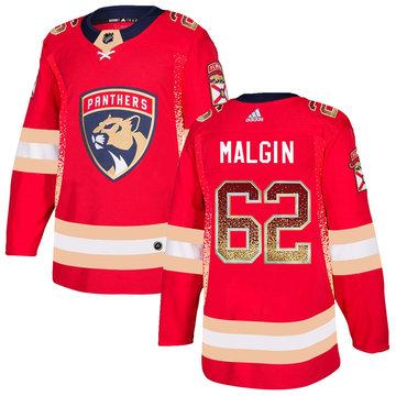 Florida Panthers 62 Denis Malgin Red Drift Fashion Adidas Jersey