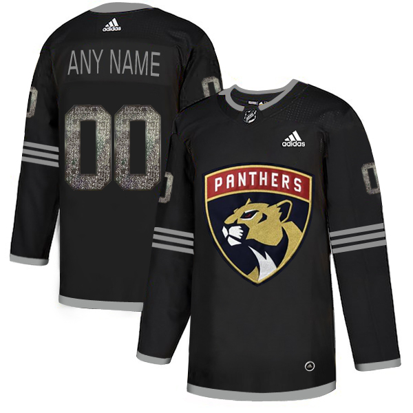 Florida Panthers Black Shadow Logo Print Men's Customized Adidas Jersey