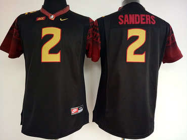 Florida State Seminoles 2 Deion Sanders Black College Football Jersey