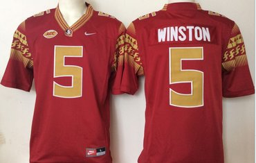 Florida State Seminoles 5 Jameis Winston Red College Football Jersey
