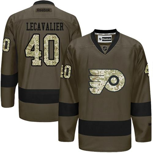 Flyers #40 Vincent Lecavalier Green Salute to Service Stitched NHL Jersey