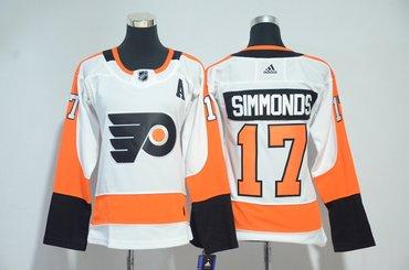 Flyers 17 Wayne Simmonds White Women Adidas Jersey