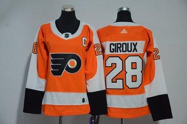 Flyers 28 Claude Giroux Orange Women Adidas Jersey