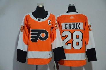 Flyers 28 Claude Giroux Orange Youth Adidas Jersey