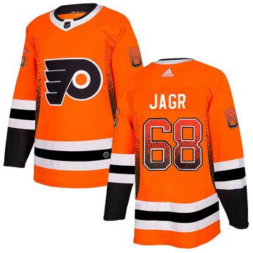 Flyers 68 Jaromir Jagr Orange Drift Fashion Adidas Jersey