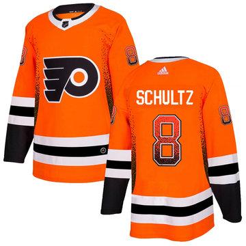 Flyers 8 Dave Schultz Orange Drift Fashion Adidas Jersey