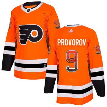 Flyers 9 Ivan Provorov Orange Drift Fashion Adidas Jersey