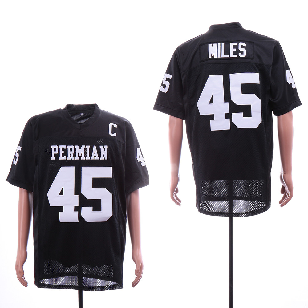 Friday Night Lights 45 Bobbie Miles Black Movie Football Jersey
