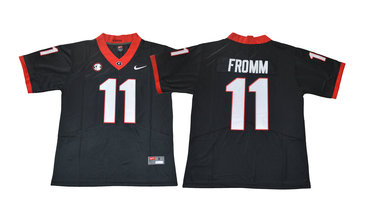 Georgia Bulldogs 11 Jake Fromm Black College Football Jersey