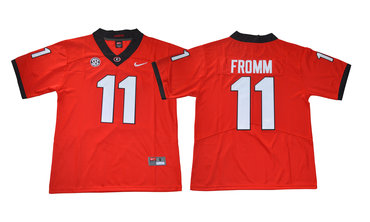 Georgia Bulldogs 11 Jake Fromm Red College Football Jersey