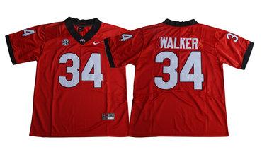 Georgia Bulldogs 34 Herchel Walker Red College Football Jersey