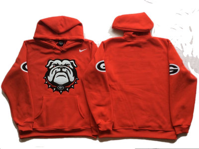 Georgia Bulldogs Blank Red Men's Pullover Hoodie