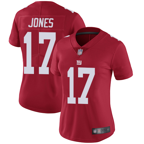 Giants #17 Daniel Jones Red Alternate Women's Stitched Football Vapor Untouchable Limited Jersey