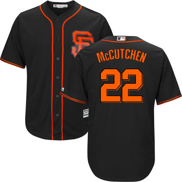 Giants #22 Andrew McCutchen Black Alternate Cool Base Stitched Youth MLB Jersey