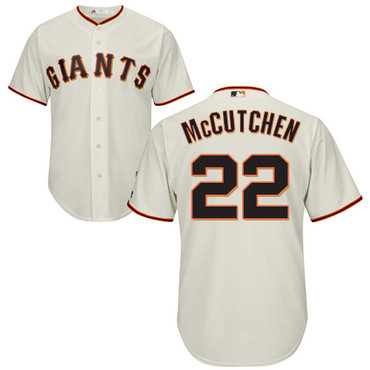 Giants #22 Andrew McCutchen Cream Cool Base Stitched Youth MLB Jersey