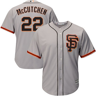 Giants #22 Andrew McCutchen Grey Road 2 Cool Base Stitched Youth MLB Jersey
