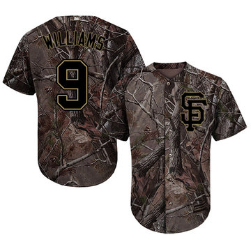 Giants #9 Matt Williams Camo Realtree Collection Cool Base Stitched Youth Baseball Jersey