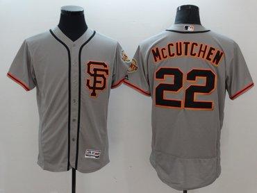 Giants 22 Andrew McCutchen Gray Flexbase Jersey