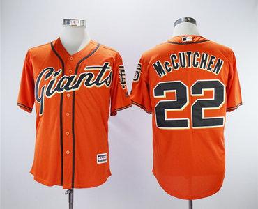 Giants 22 Andrew McCutchen Orange Cool Base Jersey