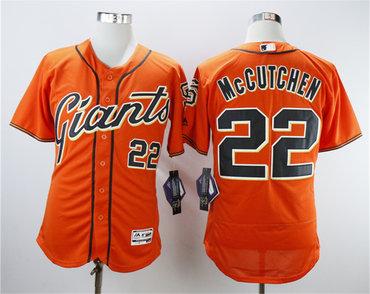 Giants 22 Andrew McCutchen Orange Flexbase Jersey