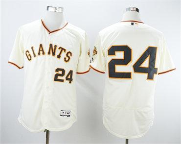 Giants 24 Willie Mays Cream Flexbase Jersey