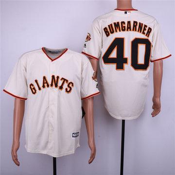 Giants 40 Madison Bumgarner Cream Cool Base Jersey