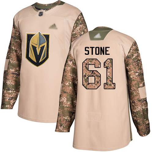 Golden Knights #61 Mark Stone Camo Authentic 2017 Veterans Day Stitched Hockey Jersey