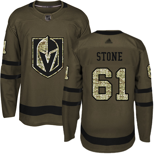 Golden Knights #61 Mark Stone Green Salute to Service Stitched Youth Hockey Jersey
