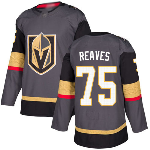 Golden Knights #75 Ryan Reaves Grey Home Authentic Stitched Hockey Jersey