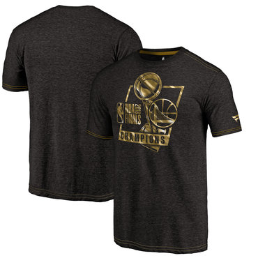 Golden State Warriors Fanatics Branded 2018 NBA Finals Champions Bank It In Gold Luxe Tri-Blend T-Shirt Black