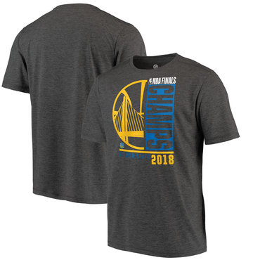 Golden State Warriors Fanatics Branded 2018 NBA Finals Champions Performance T-Shirt Heather Charcoal