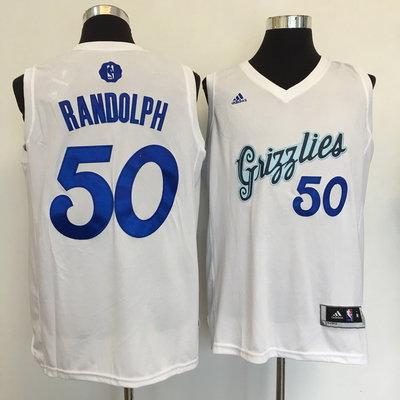 Grizzlies 50 Zach Randolph White 2016 Christmas Day Swingman Jersey