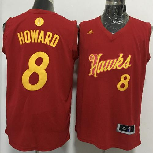 Hawks #8 Dwight Howard Red 2016-2017 Christmas Day Stitched NBA Jersey