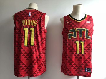 Hawks 11 Trae Young Red Nike Swingman Jersey