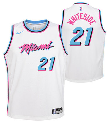 Heat 21 Hassan Whiteside White City Edition Nike Swingman Jersey