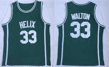 Helix High School 33 Bill Walton Green Basketball Jersey